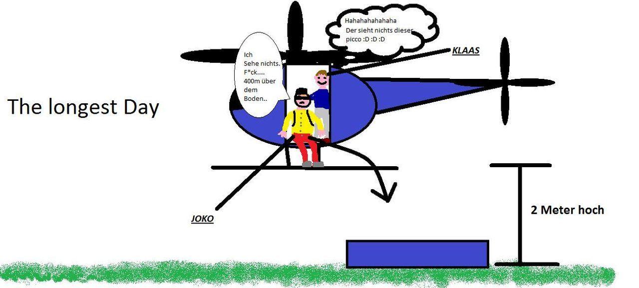 Was Schönes mit einem Hubschrauber mit Anker von Stefan Schön.