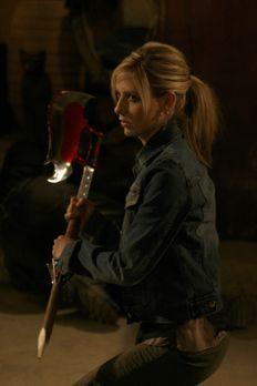 Buffy - Als Buffy (Sarah Michelle Gellar) Calebs Weinkeller ausfindig machen...