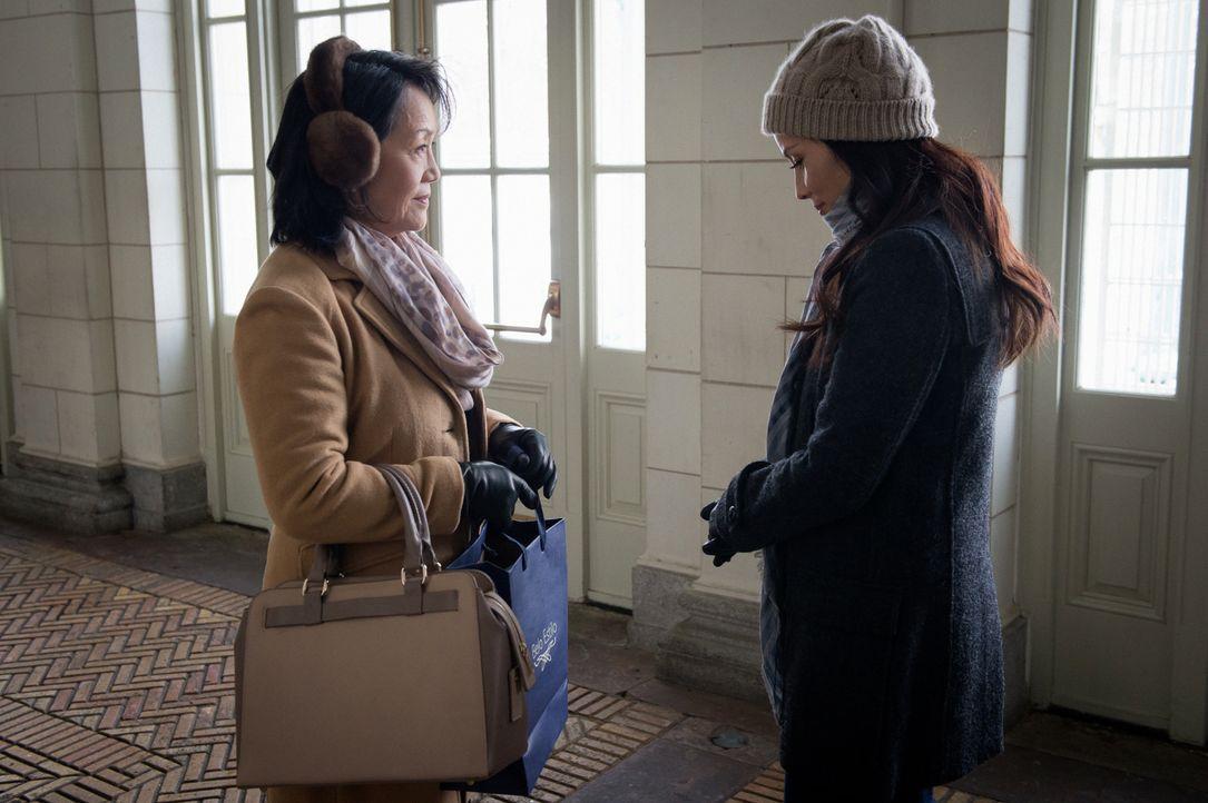 Watsons (Lucy Liu, r.) Mutter Mary (Freda Foh Shen, l.) findet heraus, dass Joans Bruder seine Frau betrügt ... - Bildquelle: CBS Television