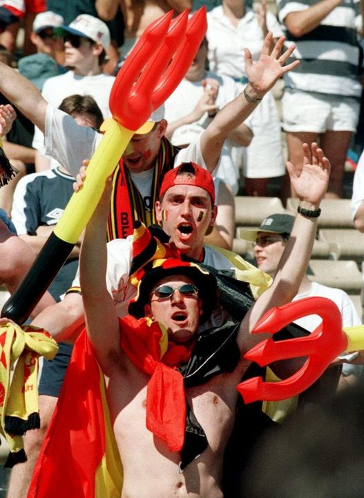 Die besten belgischen Fans - Bildquelle: dpa