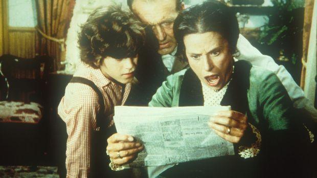 Willie (Jonathan Gilbert, l.), Mr. Oleson (Richard Bull, M.) und Mrs. Oleson...