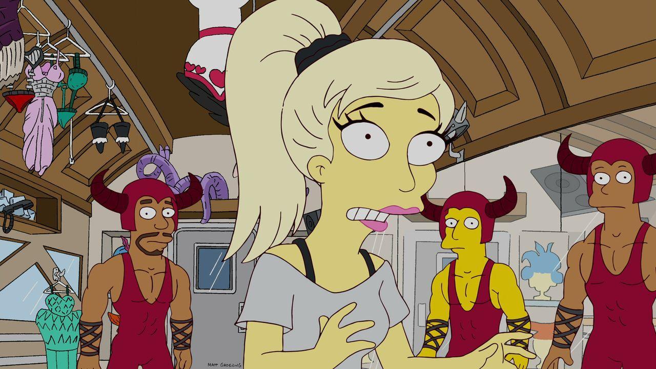 Lady Gaga (M.) eilt nach Springfield, um der deprimierten Lisa dank Gaga-Power zu helfen ... - Bildquelle: und TM Twentieth Century Fox Film Corporation - Alle Rechte vorbehalten