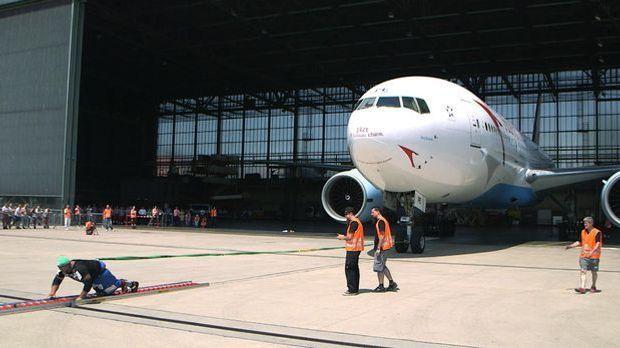 Mann zieht Boeing