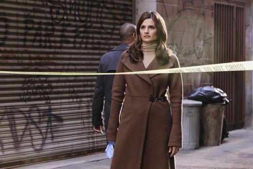 Castle - Kate Beckett (Stana Katic) ist etwas überrascht, dass sich die Schau...