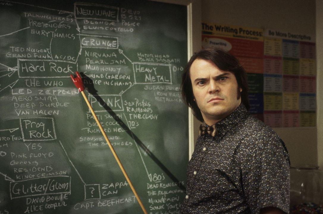 Für Dewey (Jack Black) gibt es nur eine Sache, die wichtig ist: Rockmusik! Eines Tages landet er als Aushilfslehrer an einer Eliteschule ... - Bildquelle: Paramount Pictures
