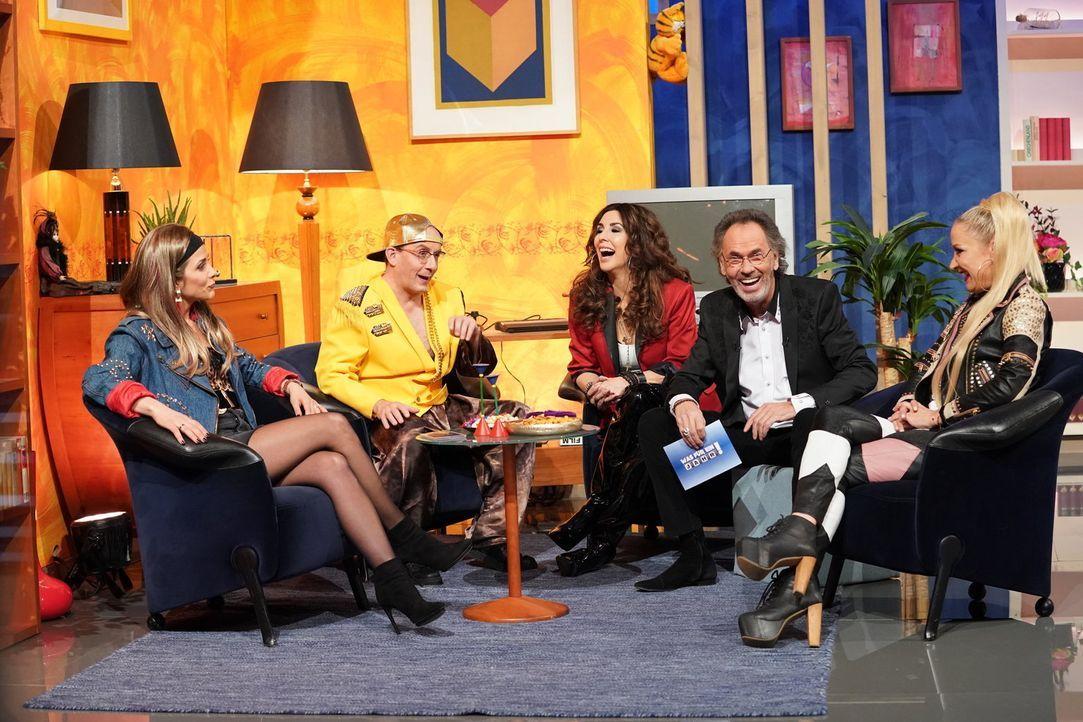 (v.l.n.r.) Panagiota Petridou; Wigald Boning; Judith Williams; Hugo Egon Balder; Janine Kunze - Bildquelle: Guido Engels SAT.1/Guido Engels