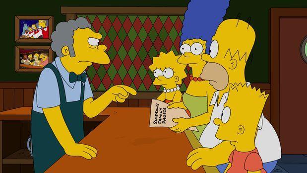 Die Simpsons - Die Entdeckung, die Homer (2.v.r.) in seiner Jackentasche mach...