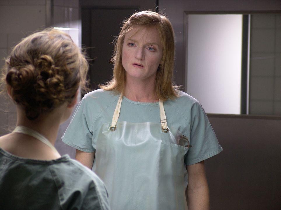 Die strenge und überaus kühle Pathologin Dr. Volkmann (Nina Petri) ist ein Workaholic. Von den Praktikanten erwartet sie neben absoluter Pünktlichke... - Bildquelle: Volker Roloff ProSieben