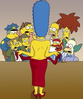 Die Simpsons - Als Marge aus der Narkose erwacht, bemerkt sie, dass der Arzt...