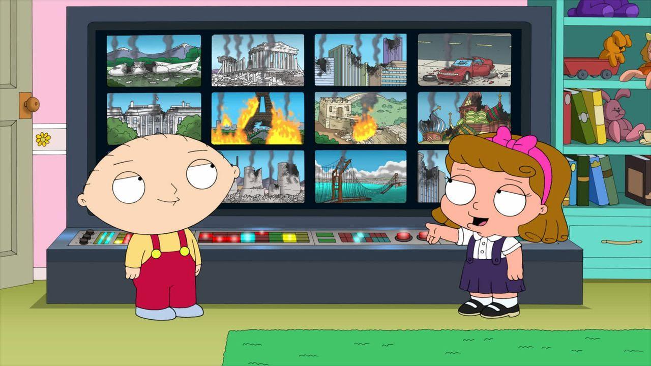 Zusammen sind Stewie (l.) und Penelope (r.) ein eiskaltes, boshaftes Pärchen, das seine Mitmenschen terrorisiert ... - Bildquelle: 2011 Twentieth Century Fox Film Corporation. All rights reserved.