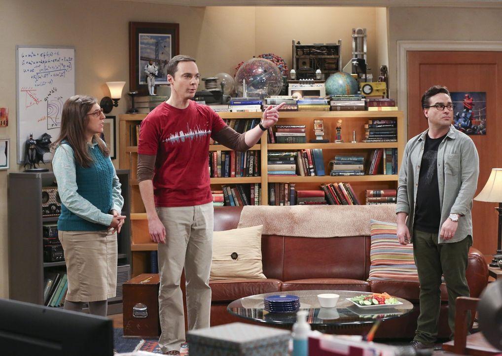 Treffen nach den ereignisreichen Feiertagen endlich wieder aufeinander und haben einiges zu berichten: Amy (Mayim Bialik, l.), Sheldon (Jim Parsons,... - Bildquelle: 2016 Warner Brothers
