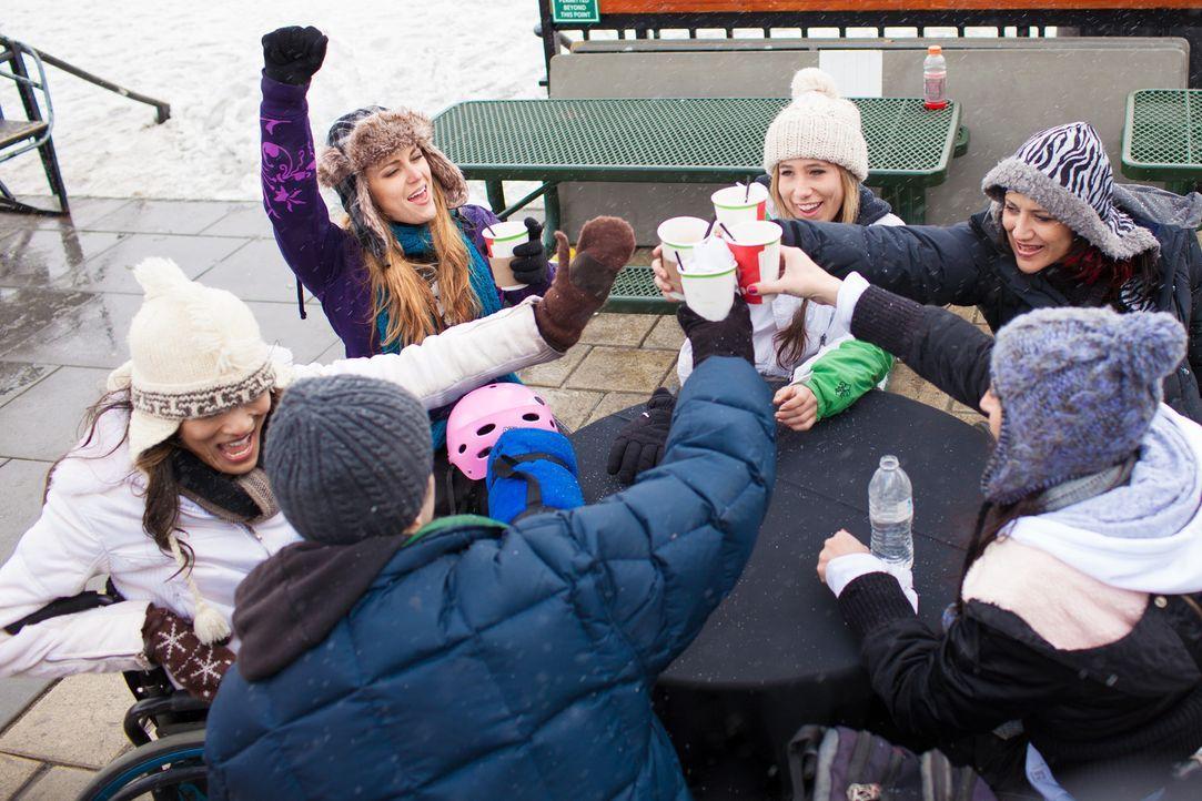 Die Push Girls gönnen sich eine gemeinsame Auszeit in den Bergen.