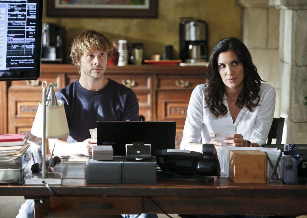 Bei den Ermittlungen in einem neuen Fall: Deeks (Eric Christian Olsen, l.) und Kensi (Daniela Ruah, r.) ... - Bildquelle: CBS Studios Inc. All Rights Reserved.
