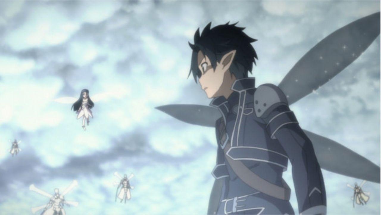 Kirito (Bild) gelangt endlich an die Spitze des Weltenbaums und damit zu Asuna, doch dann greift plötzlich Oberon an, fesselt Asuna und verletzt Kir... - Bildquelle: REKI KAWAHARA/ASCII MEDIA WORKS/SAO Project