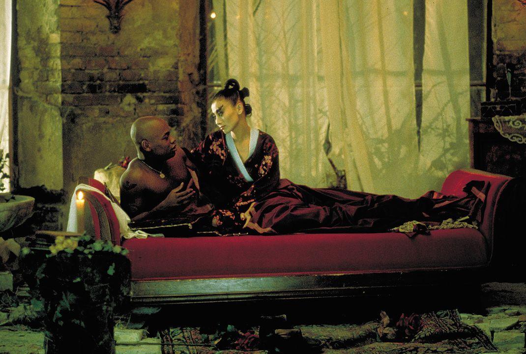 NSA-Agent Steve Grant (Bokeem Woodbine, l.) und die verführerische Vampir-Lady Lucy Westenra (Bai Ling, r.) lassen ihren Gefühlen freien Lauf ... - Bildquelle: 2004 Sony Pictures Television International. All Rights Reserved.