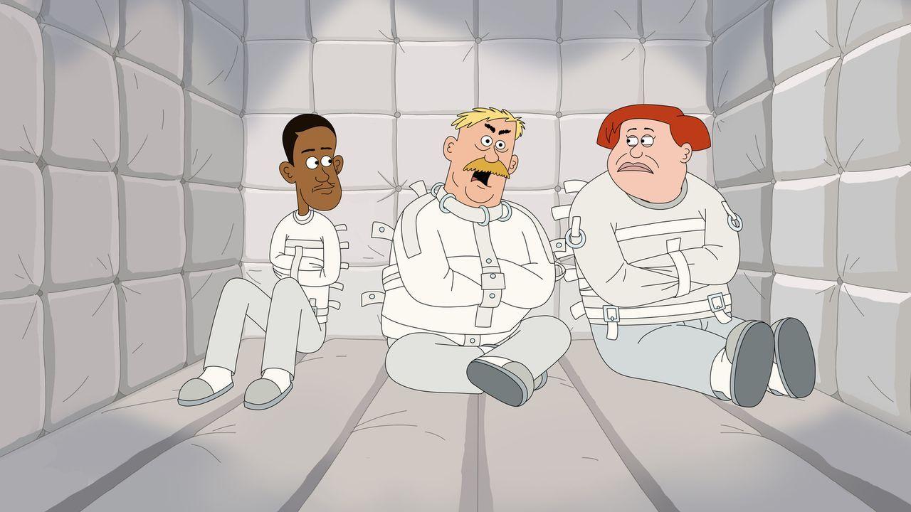 Eigentlich wollten Connie (r.) und Denzel (l.) Woody (M.) nur aus der psychatrischen Klinik befreien, doch jetzt sind sie selbst Gefangene ... - Bildquelle: 2014 Twentieth Century Fox Film Corporation and Comedy Partners.  All rights reserved.