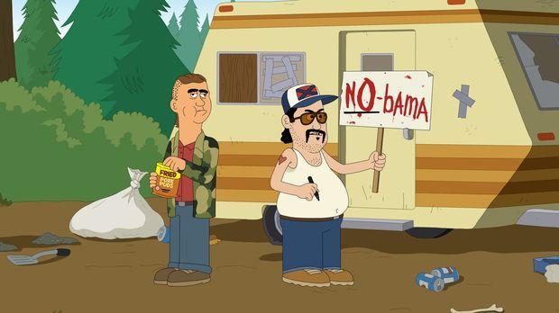 Genau wie Woody sind auch BoDean (l.) und Bobbie (r.) vom Besuch Obamas im Pa...