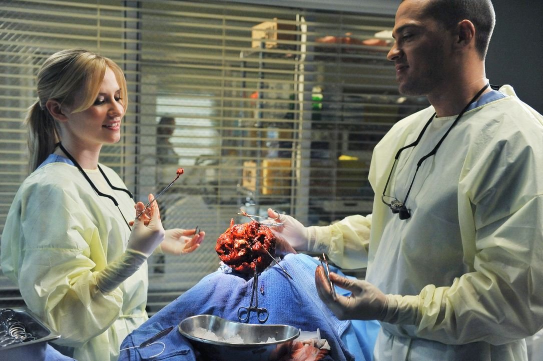 Ein Dacheinsturz in einem Restaurant am Valentinstag hält Lexie (Chyler Leigh, l.) und Jackson (Jesse Williams, r.) auf Trab ... - Bildquelle: Touchstone Television
