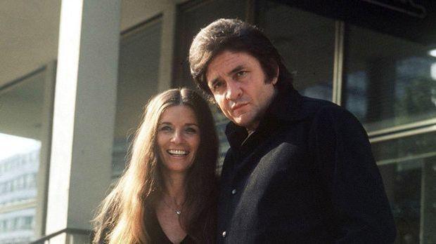 Musiklegende Johnny Cash mit seiner Frau June Carter.