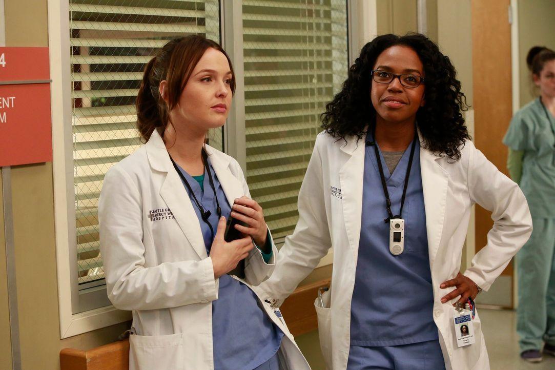 Wissen nicht, wie es im Seattle Grace weitergeht: Stephanie (Jerrika Hinton, r.) und Jo (Camilla Luddington, l.) ... - Bildquelle: ABC Studios
