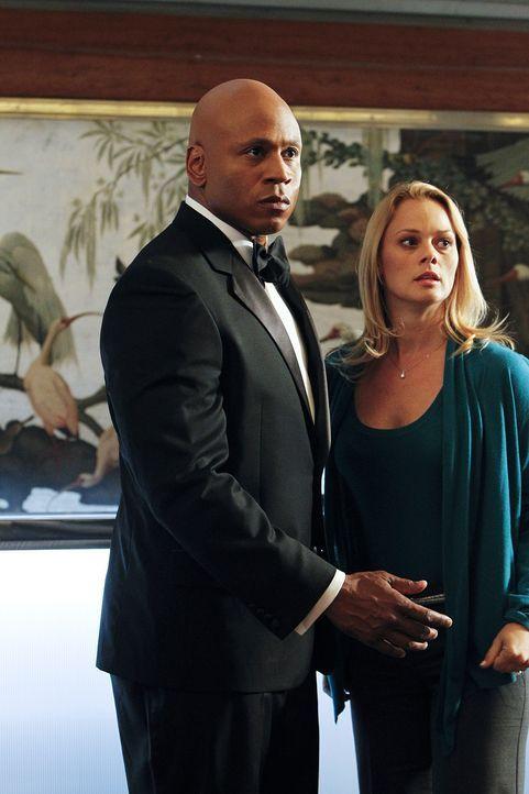 Sam (LL Cool J, l.) und seine Kollegen ermitteln in einem neuen Fall und stoßen dabei auf Jillian Leigh (Kate Levering, r.). Doch was hat sie damit... - Bildquelle: CBS Studios Inc. All Rights Reserved.