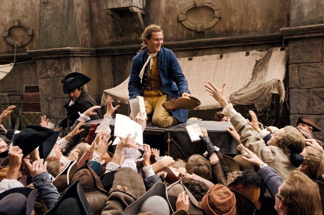Wird zum ersten Literaturstar Europas: Johann Goethe (Alexander Fehling) ... - Bildquelle: Warner Brothers