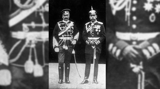 Kaiser Wilhelm II. und Zar Nikolaus II. waren zwar angeheiratete Vettern, jed...