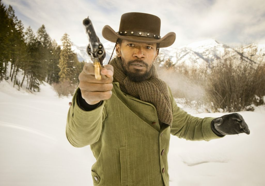 Auf dem Weg zu seinem Ziel, die Befreiung seiner Frau, wird Django (Jamie Foxx) unter Kopfgeldjäger Dr. King Schultz' Patenschaft selbst ein gefürch... - Bildquelle: 2012 Columbia Pictures Industries, Inc.  All Rights Reserved.