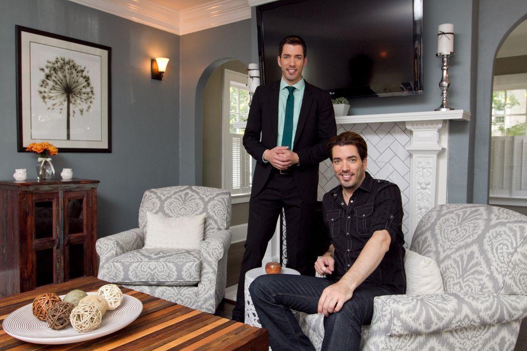 Geben immer ihr Bestes, um für die Kunden das perfekte Haus zu finden, um es dann, mit Hilfe einiger Umbauarbeiten, zu deren Zuhause machen zu könne... - Bildquelle: Jessica McGowan 2013, HGTV/Scripps Networks, LLC. All Rights Reserved