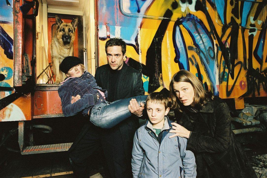 Marc (Alexander Pschill, 2.v.l.) und Niki (Elke Winkens, r.) können Iris (Vanessa Stroux, l.) und Nikolai (Schemal Mersimi, 2.v.r.) gerade noch aus... - Bildquelle: Sat.1