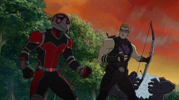 Ein neues Mitglied spaltet die Avengers: Ant-Man (l.) ist der Neue und Hawkey...