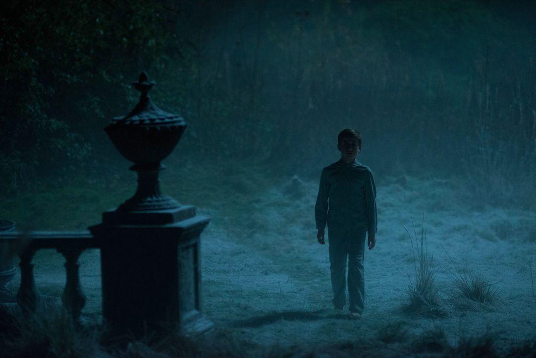 Ahnungslos folgt der, den kleinen Edward hänselnde, Tom (Jude Wright) der Frau in Schwarz mitten in der Nacht aus dem Haus - eine fatale Entscheidun... - Bildquelle: Nick Wall Angelfish Films Limited 2014 Photo