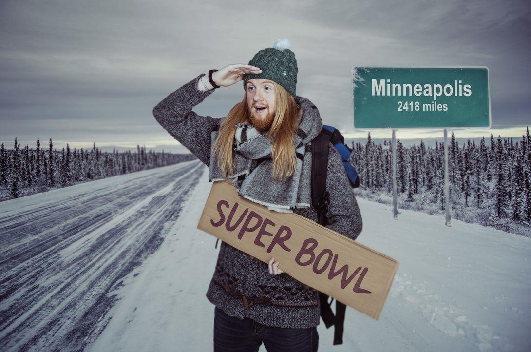 """Der 52. Super Bowl ruft! Da lässt sich Christoph """"Icke"""" Dommisch nicht lange bitten und berichtet für ProSieben über das Spiel um die begehrteste Fo... - Bildquelle: Martin Saumweber ProSieben"""