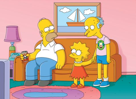 Die Simpsons - Nach dem Sturz von einer Klippe, verliert Mr. Burns (r.) sein...