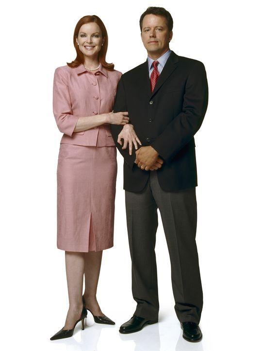 (1. Staffel) - Hinter der Fassade ist es alles andere als eine glückliche Ehe: Bree (Marcia Cross, l.) und Rex Van De Kamp (Steven Culp, r.) ... - Bildquelle: Touchstone Pictures