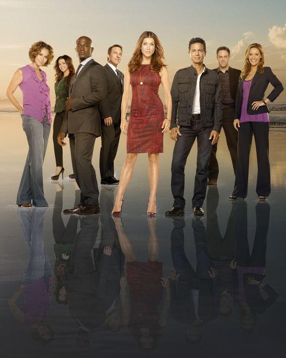 (6. Staffel) - Private Practice: Dr. Violet Turner (Amy Brenneman, l.), Dr. Charlotte King (KaDee Strickland, r.), Dr. Addison Forbes Montgomery (Ka... - Bildquelle: ABC Studios