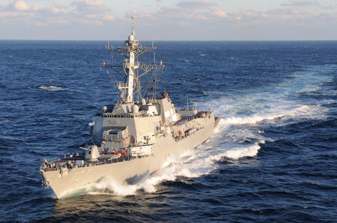 Die USS Gravely ist ein Zerstörer der United States Navy und gehört der Arleigh-Burke-Klasse an. Namenspatron ist Vizeadmiral Samuel L. Gravely, der... - Bildquelle: Exploration Production Inc.