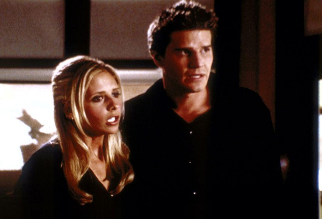 Buffy (Sarah Michelle Gellar, l.) ist nach Los Angeles gekommen, um sich mit Angel (David Boreanaz, r.) auszusprechen. - Bildquelle: TM +   2000 Twentieth Century Fox Film Corporation. All Rights Reserved.