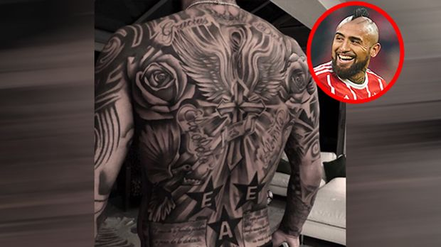 tattoos der fu ball stars costa boateng beckham und co. Black Bedroom Furniture Sets. Home Design Ideas