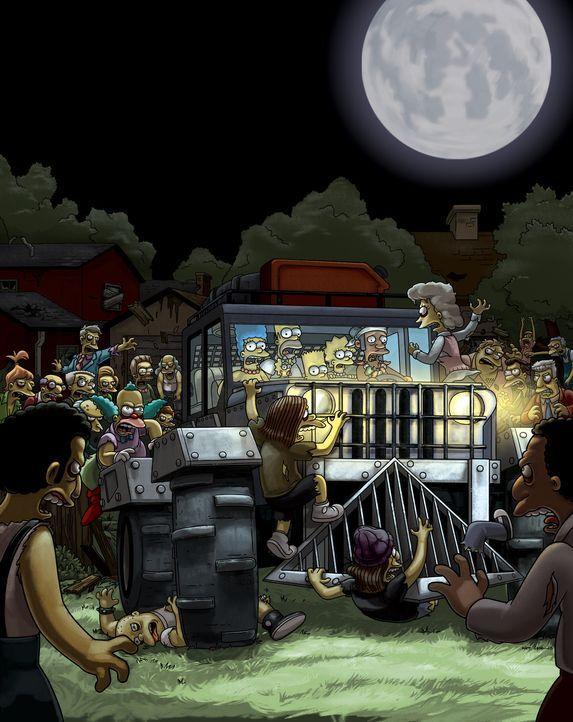 Jeder, der Krustys neuen Burger isst, verwandelt sich sofort in einen menschenfressenden Zombie. Fast ganz Springfield ist betroffen ... - Bildquelle: und TM Twentieth Century Fox Film Corporation - Alle Rechte vorbehalten