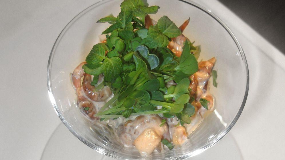Krabbencocktail aus frischen Nordseekrabben mit Champion- Pfirsich Dressing ... - Bildquelle: kabel eins