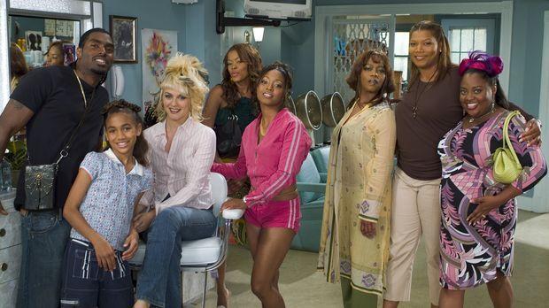 Der Beauty Shop wird bald zum Mittelpunkt ihres Lebens (v.l.n.r.): James (Bry...