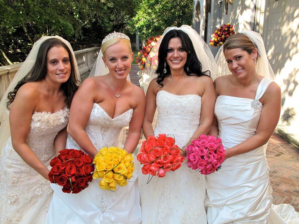 Welche Braut trägt das schönste Kleid? Wer hat die leckerste Hochzeitstorte? Welches Paar hat die ergreifendste Hochzeitszeremonie? Heather (2.v.l... - Bildquelle: 2011 Discovery Communications, LLC