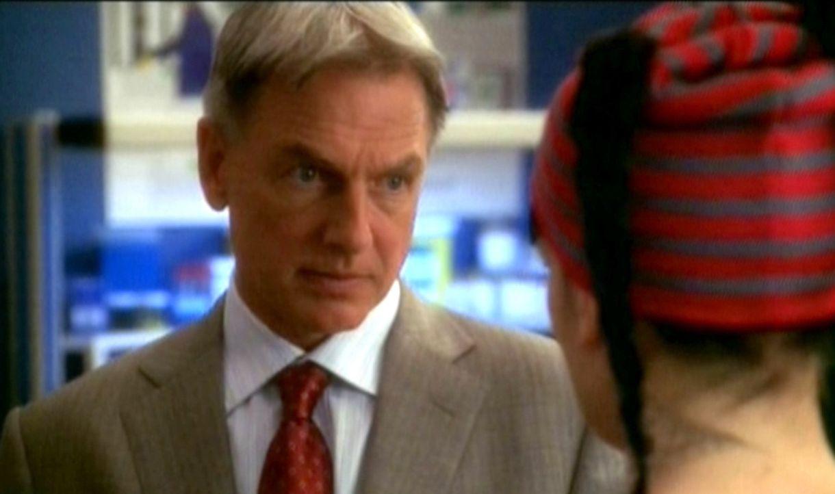 Gibbs (Mark Harmon, l.) unterhält sich mit Abby (Pauley Perrette, r.) über die Entführung einer Navy-Soldatin. - Bildquelle: CBS Television