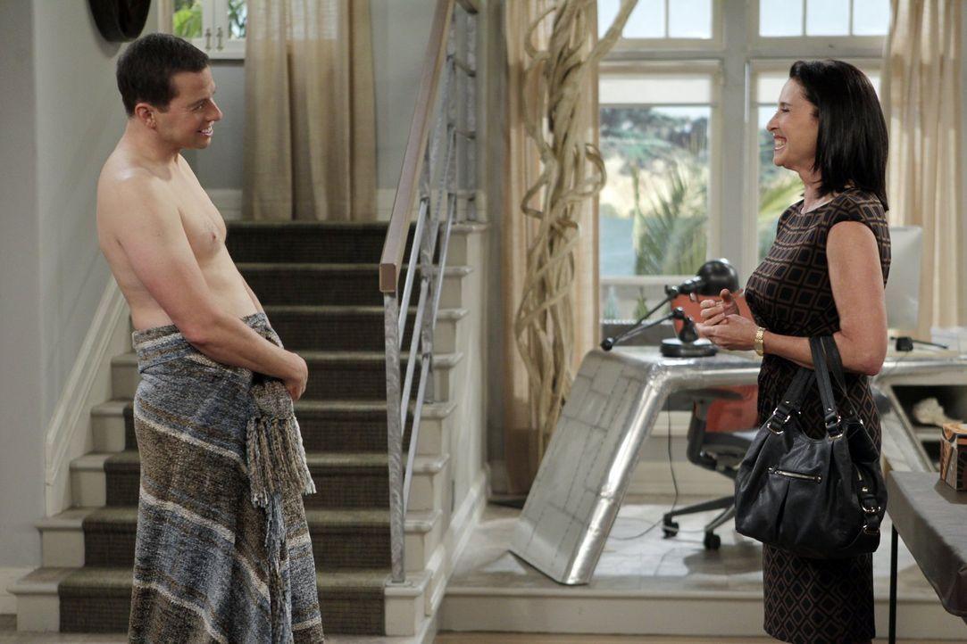 Was läuft zwischen Alan (Jon Cryer, l.) und Robin (Mimi Rogers, r.)? - Bildquelle: Warner Brothers Entertainment Inc.