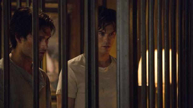 Michael Malarkey als Enzo und Ian Somerhalder als Damon
