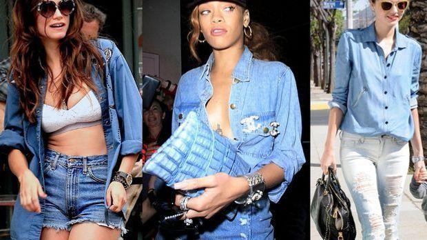 Der Mode-Trend Denim auf Denim ist der letzte Schrei in der Fashionwelt. Der...