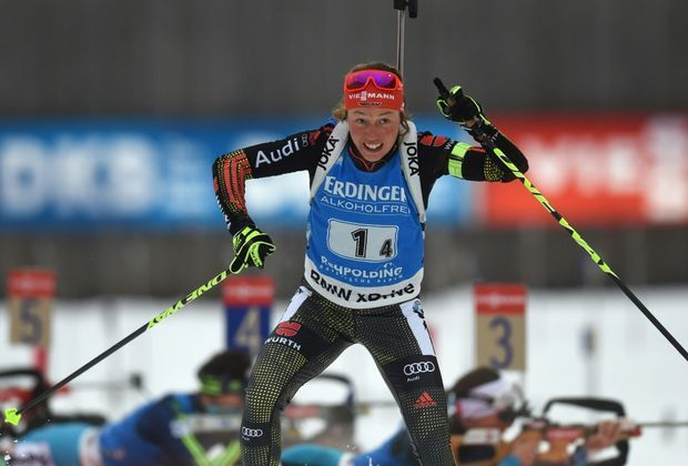 Laura Dahlmeier sprintet in Ruhpolding auf Rang drei
