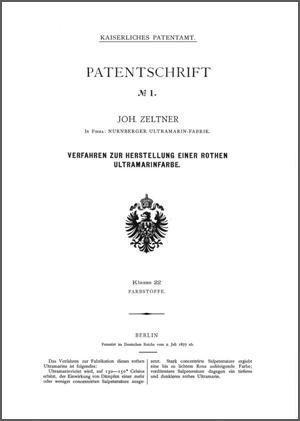 Erste Patentschrift