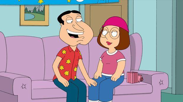 Als Meg (r.) endlich 18 wird, startet Quagmire (l.) eindeutige Annäherungsver...